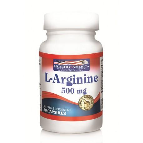 L-Arginine Hcl 500 mg 50 Capsules