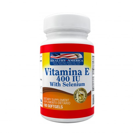 Vitamin E 400 IU With Selenium 100 Softgels