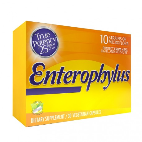 EnteroPhillus 215mg 30 Capsules Unit Box