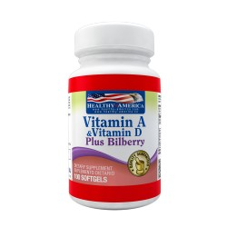Vitamin A 10000 IU & Vitamin D 400 IU Plus Bilberry 100 Softgels
